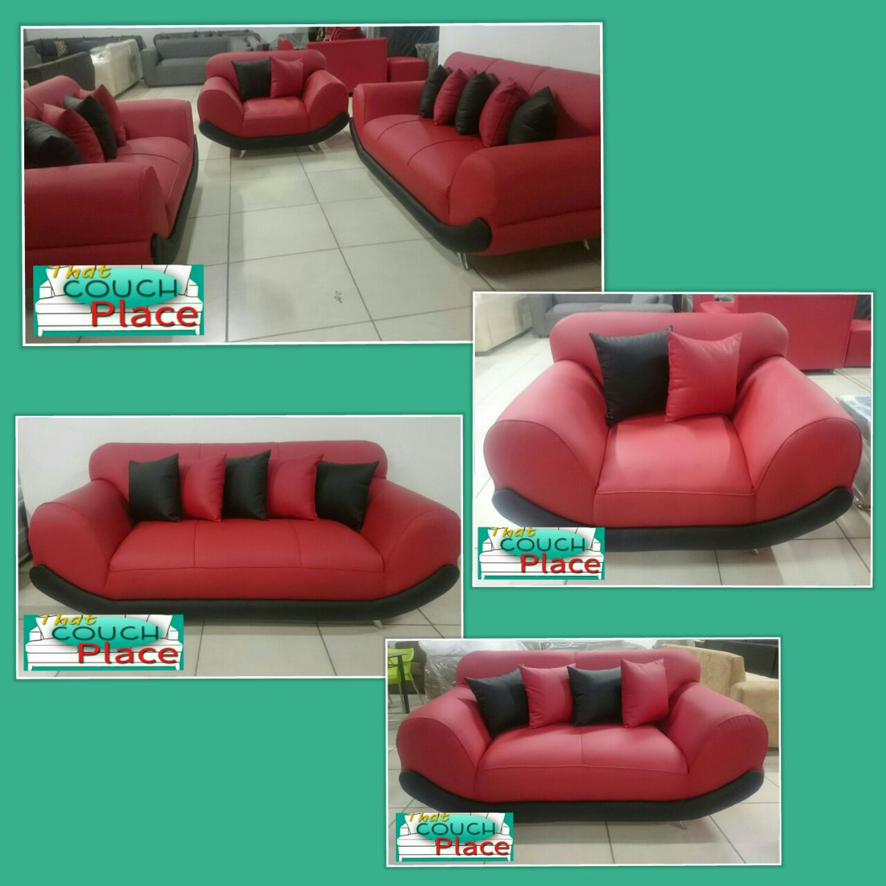 Red California 6 Seater Set Cheap Couch